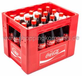 Coca Cola Kasten 20 x 0,5 l Glas MW