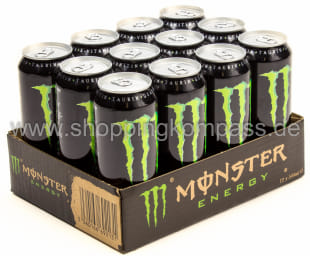Foto Monster Energy Drink Karton 12 x 0,5 l Dose Einweg
