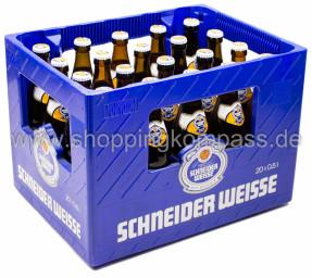 Schneider Weisse Original TAP 7 Kasten 20 x 0,5 l Glas MW