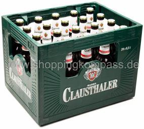 Clausthaler Classic alkoholfrei Kasten 20 x 0,5 l Glas MW