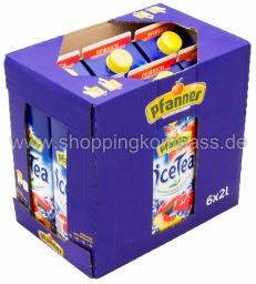 Pfanner Eistee Pfirsich Karton 6 x 2 l Tetrapack