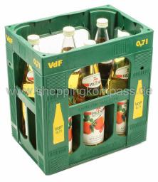 Van Nahmen Apfelsaft klar Direktsaft Kasten 6 x 0,7 l Glas MW