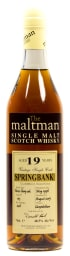 Foto Springbank 19 years (The Maltman) Single Malt Scotch Whisky 0,7 l