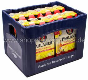 Paulaner Weissbier Zitrone alkoholfrei Kasten 4 x 6 x 0,33 l Glas MW