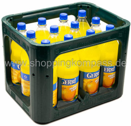 Gerri Orange light Kasten 12 x 1 l PET Mehrweg