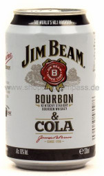 Jim Beam Bourbon Whiskey & Cola 0,33 l Dose Einweg
