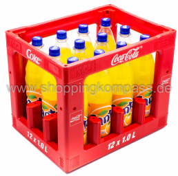 Foto Fanta Orange Kasten 12 x 1 l PET Mehrweg