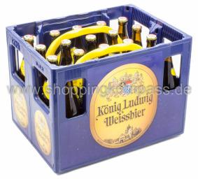 König Ludwig Weissbier Hell Kasten 20 x 0,5 l Glas MW