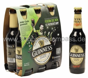 Guinness Extra Stout 6 x 0,33 l Glas MW