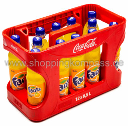 Foto Fanta Orange Kasten 12 x 0,5 l PET Mehrweg