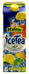 Pfanner Eistee Lemon-Lime 2 l Tetra-Pack