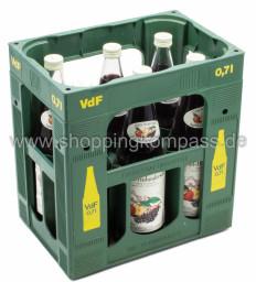 Van Nahmen Apfel Holundersaft Direktsaft Kasten 6 x 0,7 l Glas MW