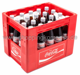 Coca Cola Light Kasten 20 x 0,5 l Glas MW