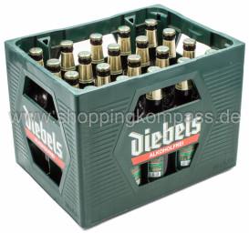 Diebels Alt alkoholfrei Kasten 20 x 0,5 l Glas MW
