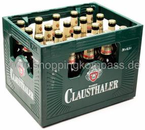 Clausthaler Extra Herb Kasten 20 x 0,5 l Glas MW