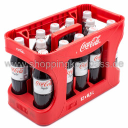 Foto Coca Cola Light Kasten 12 x 0,5 l PET Mehrweg
