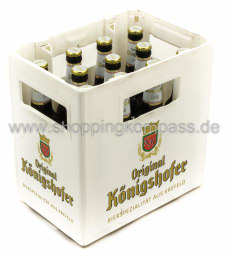 Original Königshofer Pils Kasten 11 x 0,5 l Glas MW