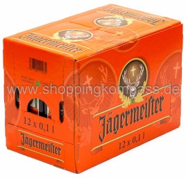 Jägermeister Karton 12 x 0,1 l