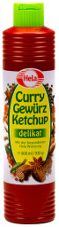 Hela Curry Gewürzig Ketchup delikat 800 ml Tube