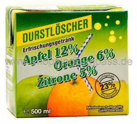 Durstlöscher Apfel Orange Zitrone 0,5 l