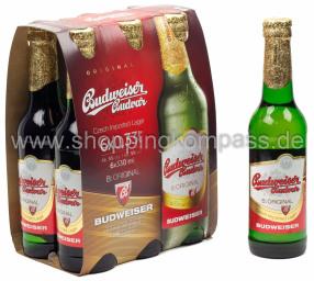 Budweiser Budvar B:Original 6 x 0,33 l Glas MW