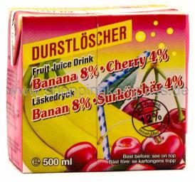 Durstlöscher Banane Sauerkirsch 0,5 l