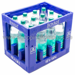 Bonaqa Tafelwasser Medium Kasten 12 x 1 l PET MW