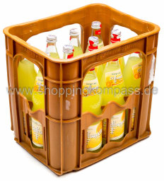 Foto Stiftsquelle Limonade Orange Light Kasten 12 x 0,7 l Glas Mehrweg
