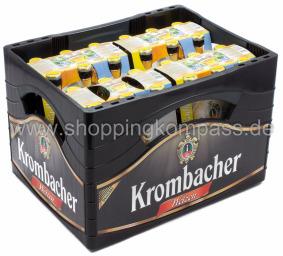 Krombacher Weizen Radler Kasten 4 x 6 x 0,33 l Glas MW