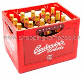 Budweiser Kasten 20 x 0,5 l Glas MW