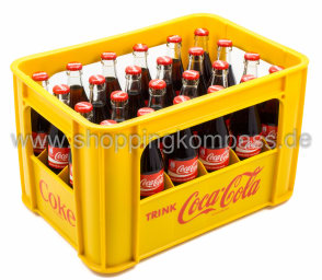 Coca Cola Kasten 24 x 0,33 l Glas MW
