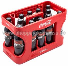Coca Cola Zero Kasten 12 x 0,5 l PET EW