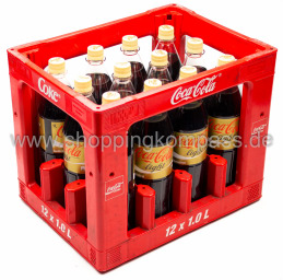 Coca Cola Light koffeinfrei Kasten 12 x 1 l PET MW