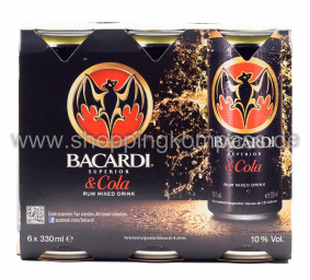 Bacardi Cola Karton 6 x 0,33 l Dose EW