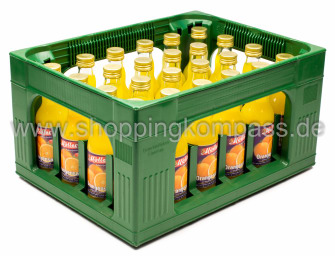 Möller Orangensaft Kasten 24 x 0,2 l Glas MW