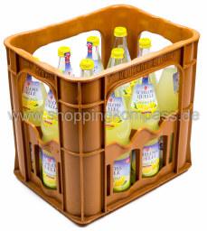 Schlossquelle Limonade Zitrone trüb + Vitamin C Kasten 12 x 0,7 l Glas MW
