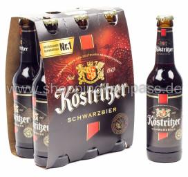 Köstritzer Schwarzbier 6 x 0,33 l Glas MW