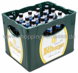 Bitburger Pils alkoholfrei Kasten 20 x 0,5 l Glas MW