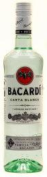 Bacardi Carta Blanca Weisser Rum 0,7 l Glas