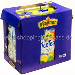 Pfanner Eistee Lemon-Lime Karton 6 x 2 l Tetra-Pack