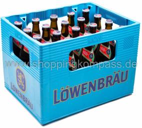 Löwenbräu alkoholfrei Kasten 20 x 0,5 l Glas MW