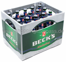 Becks Blue Pils alkoholfrei Kasten 20 x 0,5 l Glas MW