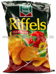 Funny-Frisch Riffels Chili & Paprika 150 g