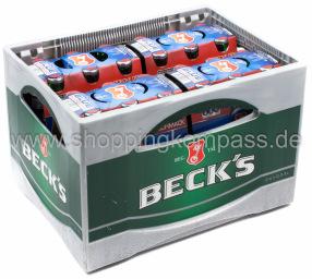 Becks Blue Pils alkoholfrei Kasten 4 x 6 x 0,33 l Glas MW