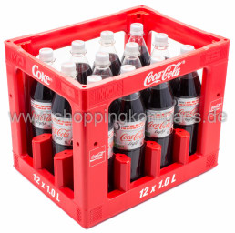 Coca Cola Light Kasten 12 x 1 l PET MW