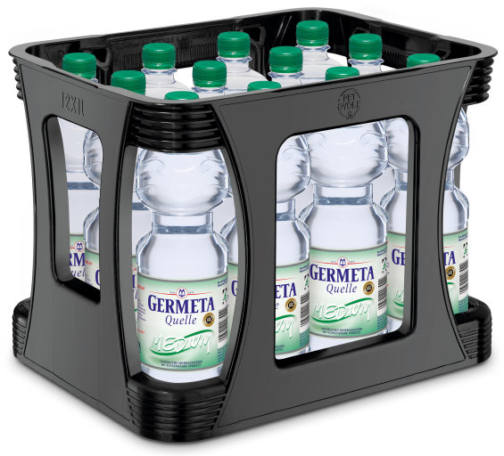 Germeta Quelle Mineralwasser Medium Kasten 12 x 1 l PET Einweg