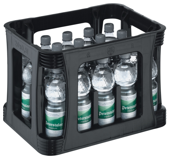 Peterstaler Mineralwasser Medium Kasten 20 x 0,5 l PET Einweg Cycle