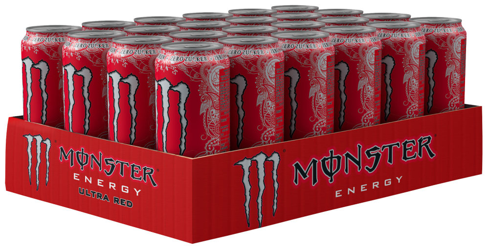 Monster Energy Ultra Red Karton 24 x 0,5 l Dose Einweg