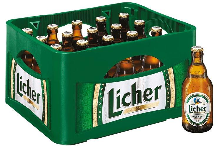 Licher Pilsner Kasten 20 X 033 L Glas Mehrweg