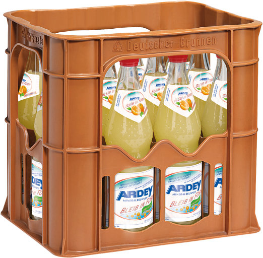 Ardey Quelle Bleib in Form Orange Kasten 12 x 0,7 l Glas Mehrweg